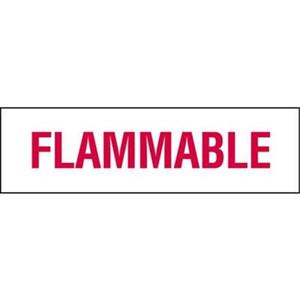 Flammable Vinyl Sticker 6 in. x 21 in.