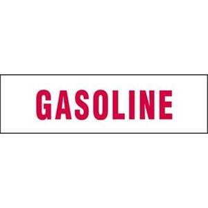 Gasoline Vinyl Sticker 6 in. x 21 in.