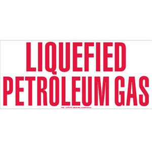Liquefied Petroleum Gas Vinyl Sticker 9 1/2 in. x 21 in.