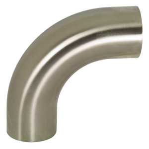 Dixon Sanitary B2S Series Polished 316SS 90° Weld Elbows w/ Tangents