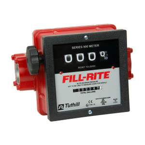 Fill-Rite 901C 1 1/2 in. NPT Mechanical Heavy Duty Flow Meter (Gallons)