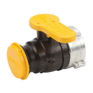Banjo 2 in. Poly IBC Spinweld Valve for Schutz w/ Male Adapter Outlet, Cap & Foil Seal - V20280 Collar with Viton Gasket