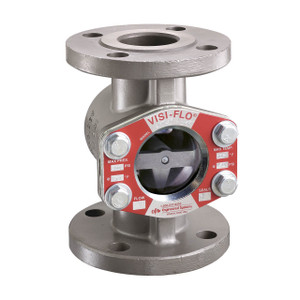 OPW VISIFLO 1500 Series 8 in. Flanged 316 Stainless Steel Sight Flow Indicator w/ PTFE Seal