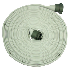 Fire/Mill 1 1/2 in. x 50 ft. 300# Single Jacket  Fire Hose w/ Aluminum NH (NST) Couplings