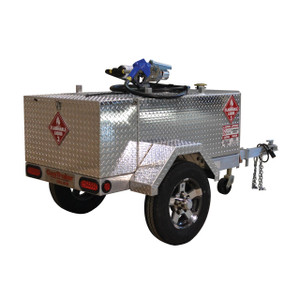 GasTrailer Contractor 110 Deluxe DOT Approved Portable Gas Trailer - 15 GPM 12V DC Pump