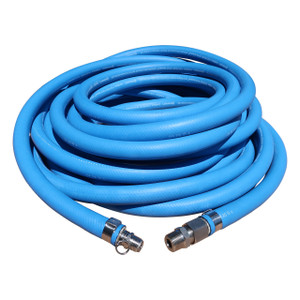 Continental ContiTech Blue Fortress 300 Washdown Hose w/ Microban Cover, FDA Tube, & Stainless Super Klean Ends