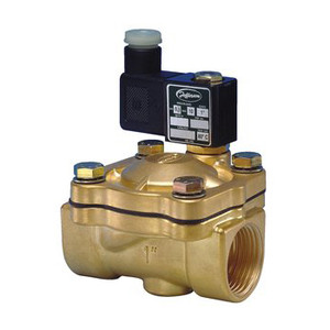 Jefferson Valves 2036 Series 1/2 in. Normally Closed Brass General Purpose 2-Way Solenoid Valve w/ Buna-N Seal