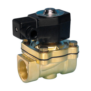 Jefferson Valves 1335 Series 1/2 in. Normally Closed Brass General Purpose 2-Way Solenoid Valve w/ Buna-N Seal