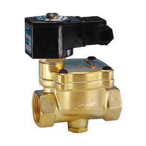 Jefferson Valves 1342 Series 2 in. Normally Closed Brass General Purpose 2-Way Solenoid Valve w/ Buna-N Seal