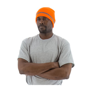 Majestic ANSI High Visibility Orange Beanie w/ Reflective Striping