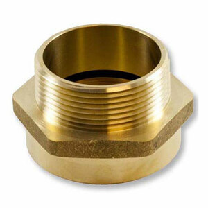 Dixon 2 1/2 in. Brass Female To Male Hex Nipple