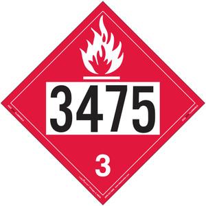 Labelmaster 3475 EZ Removable Vinyl Flammable Liquid Placard