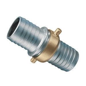 Kuriyama Aluminum Pin Lug Hose Shank Coupling w/ Brass Swivel Nut - Complete Set - NPSM Thread