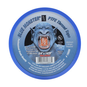 Mill-Rose Blue Monster PTFE Tape - 3/4 in. x 1429 in. Roll