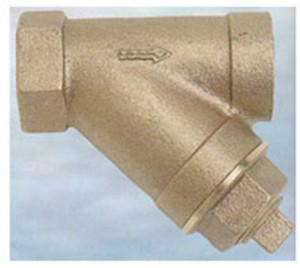 Sure Flow 1/2 in. Cast Bronze Y-Strainer w/ 3/8 in. Tap - 20 Mesh w/ 150-300 PSI