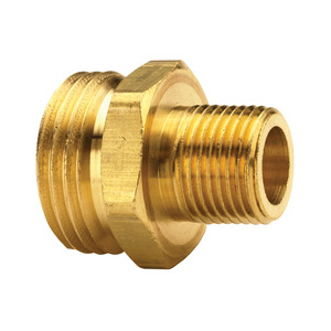Dixon 3/4 in. Brass Male GHT x Male NPT Adapter