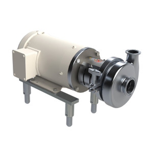 Dixon Sanitary 1750 RPM Sanitary Centrifugal Pump - 3 in. x 2 in. Inlet x Outlet, 5.5 in. Impellar, 3 HP - 182TC
