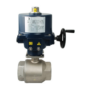 Dixon BV2HG Series 3 in. 110VAC Electrically Actuated 2-Piece Stainless Ball Valve w/ Handwheel Override
