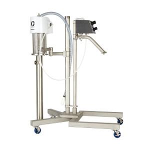 Graco SaniForce® Elevator w/ 5:1 Ratio Piston Pump for Sanitary Applications to Transfer Low to Medium Viscosity Fluids