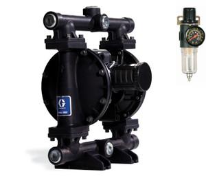 Graco Husky 1050 1 in. NPT Aluminum Diaphragm Pump w/ Buna-N Seats & TPE Diaphragms - UL Listed & FREE Filter Regulator