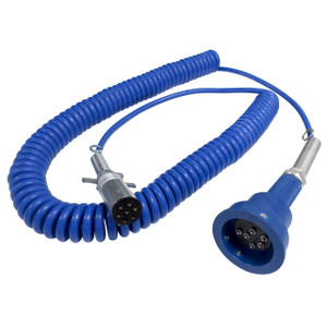 Scully Pull-Away Cord & Plug For Blue Optic System w/ 3-J Slot Pins, 6 Contact Pins & 30 ft. Coiled Cord