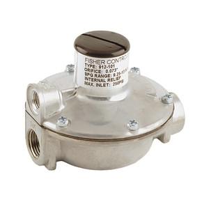 Emerson Fisher 912 Series 1/4 in. FNPT x 3/8 in. FNPT Zinc Alloy Single Stage Pressure Reducing Regulator w/ 9.25 - 13 in. w.c. Spring, 110K BTU/HR