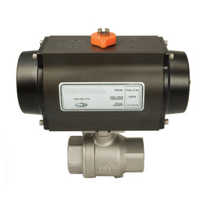 Dixon BV2HG Series Pneumatically Actuated 2-Piece Stainless Ball Valve - Spring Return - Normally Closed