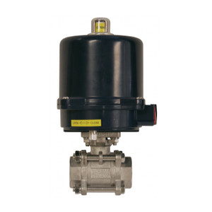 Dixon BV2IG Series 24VDC Electrically Actuated 3-Piece Stainless Ball Valve w/ Standard Override