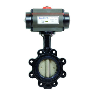Dixon B51 Series Pneumatically Actuated Butterfly Valves w/Buna-N Seals & Nickle Plated Disc, Lug Double Acting