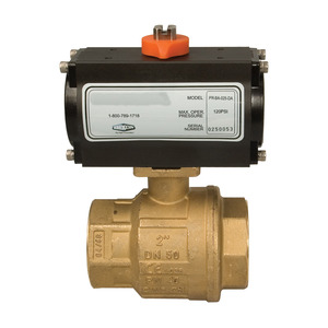 Dixon BV2BV Series Pneumatically Actuated Brass Ball Valve - Double Acting