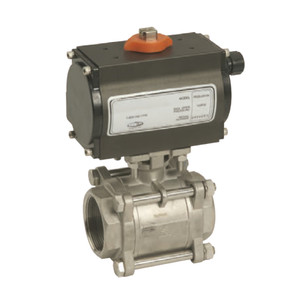 Dixon BV2IG Series Pneumatically Actuated Stainless Steel Ball Valve - Double Acting