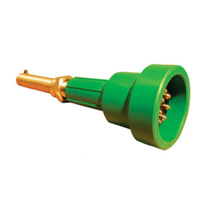 Scully Green Thermistor Plug Only w/ 4 J-Slot Pins & 10 Contact Pins for Scully Systems