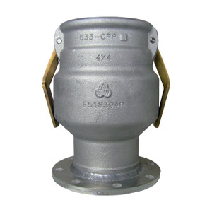 Civacon 633CPP 4 in. Aluminum Female Cam x TTMA Flange w/ Brass Paddle Arms