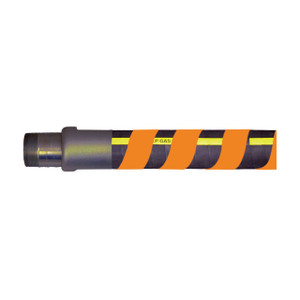 F & R Manufacturing 2 1/2 in. High Density Polyethylene Spiral Hose Wrap - Orange