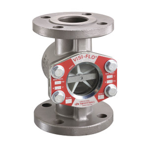 OPW VISI-FLO 1500 Series High Pressure Carbon Steel Flanged Sight Flow Indicator w/ Propeller & Viton Seal