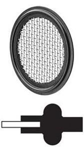JME Sanitary 3 in. Buna-N Tri Clamp Screen Gasket - 10 Mesh