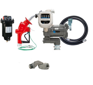 GPI GPRO 25 GPM 12V Aviation Fuel Transfer Pump Package with Meter & Filter