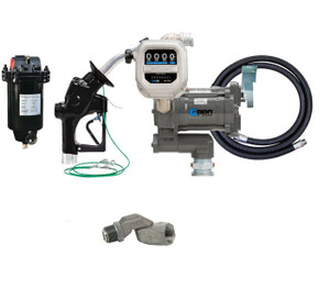 GPI GPRO 20 GPM 115V  Aviation Fuel Transfer Pump Package with Meter & Filter