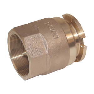 Dixon 3 in. Female NPT Brass Bayonet Style Dry Disconnect Adapter