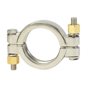 """JME SS13MHP Series -1/2 to -3/4"""" Bolted Clamp,304 SS"""