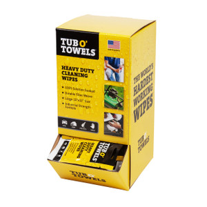 Tub O' Towels® Heavy Duty Cleaning Wipes - 100 Pack w/ Gravity Feed Dispenser
