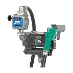 GPI GPRO PRO20-115 Series 115V AC Fuel Transfer Pump w/ Automatic Nozzle & M30 Fuel Meter - 20 GPM