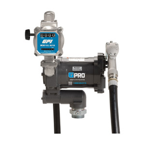 GPI GPRO PRO20-115 Series 115V AC Fuel Transfer Pump w/ Manual Nozzle & M30 Fuel Meter - 20 GPM