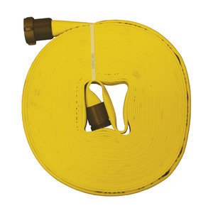 Dixon 1 in. Forestry Non Weeping Fire Hose w/ Aluminum NH (NST) Rocker Lug Couplings
