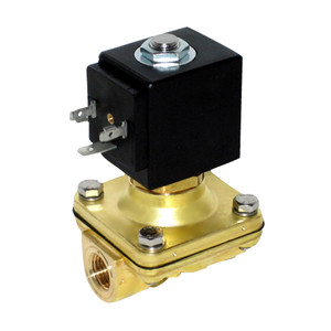 Granzow H Series 3/8 in. Normally-Closed Brass General Purpose Two-Way Solenoid Valve w/ Buna N Seal & Assisted Lift - 120 Volt AC
