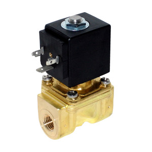 Granzow E Series 3/4 in. Normally-Closed Brass General Purpose Two-Way Solenoid Valve w/ Buna N Seal - 24 Volt DC