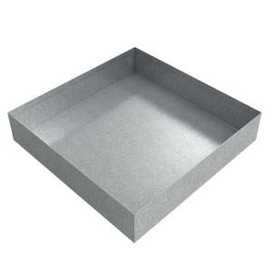 Killarney Metals 12 in. x 12 in. Square Galvanized Drip Pan