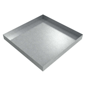 Killarney Metals 24 in. x 24 in. Square Galvanized Drip Pan