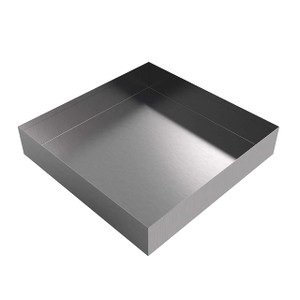 Killarney Metals 12 in. x 12 in. Square Stainless Steel Drip Pan