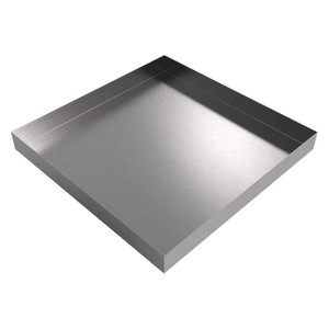 Killarney Metals 24 in. x 24 in. Square Stainless Steel Drip Pan